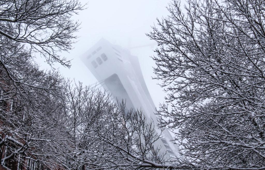 La Tour de Montréal en hiver