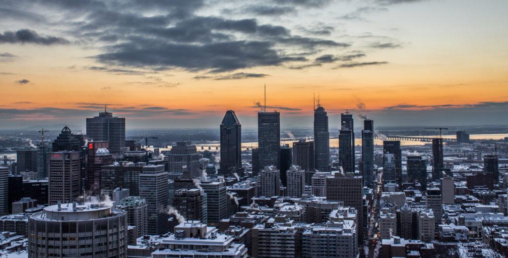 Montréal au lever du soleil