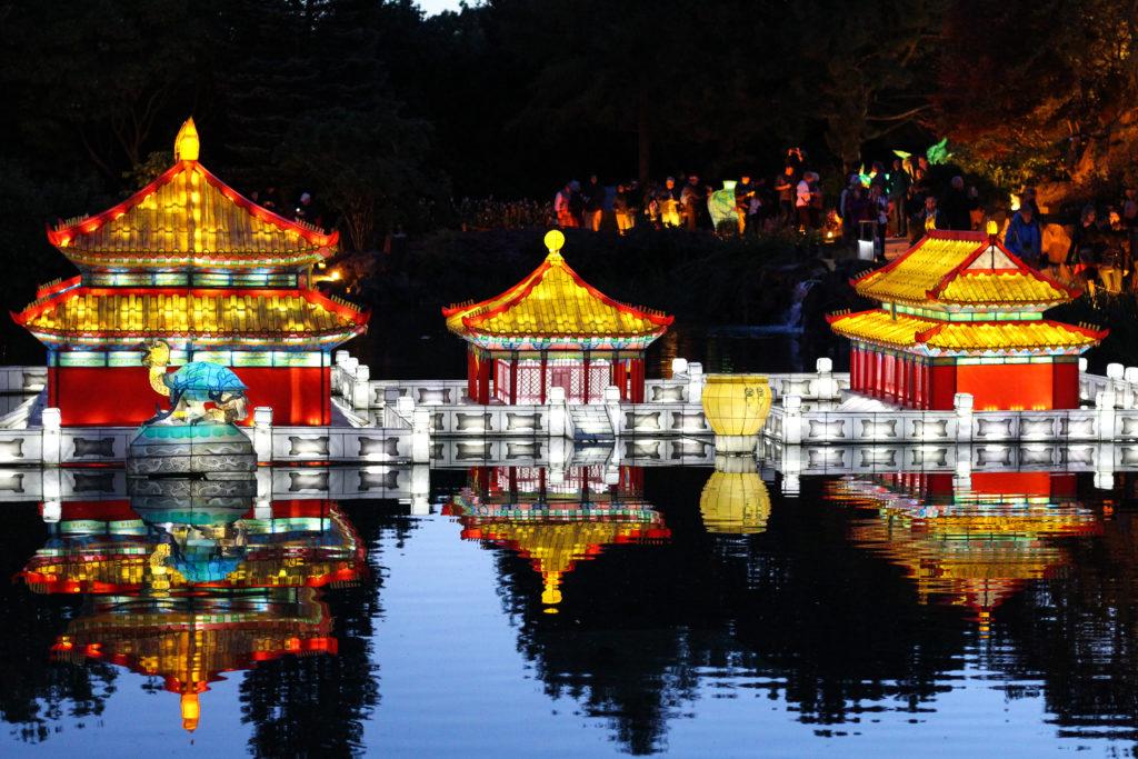 Le jardin chinois s'illumine