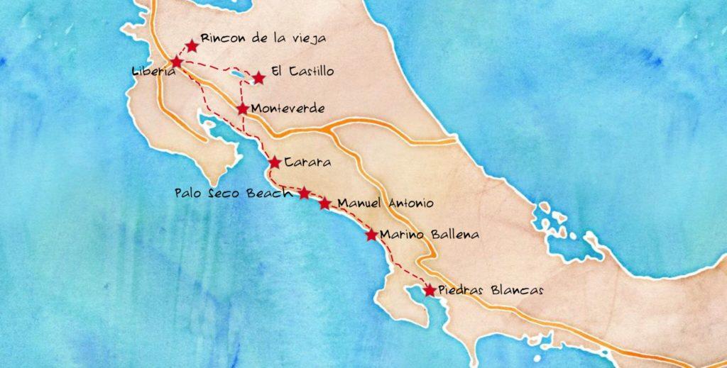 Notre itinéraire de voyage au Costa Rica