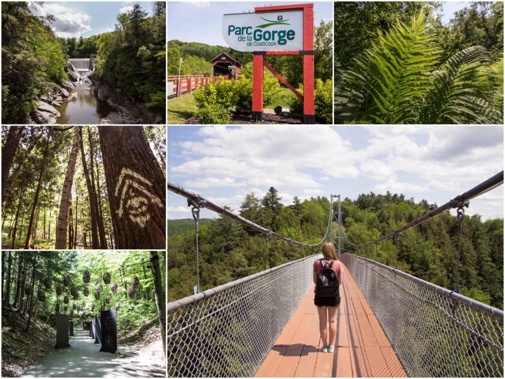 Le Parc de la Gorge de Coaticook dans les Cantons-de-l'Est