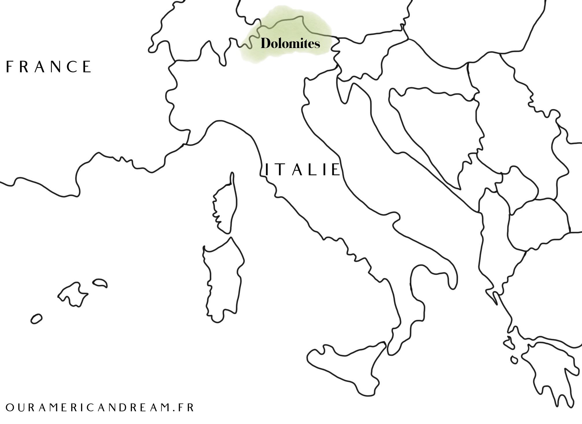 Carte des Dolomites